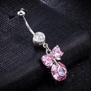 Lovely Bow Knot Exquisite Zircon Navel Ring P0259 -