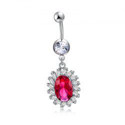 Simple Big Zircon Navel Ring P0262 -