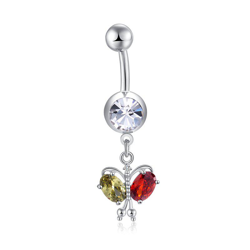 Buy Colorful Butterfly Zircon Navel Ring P0264