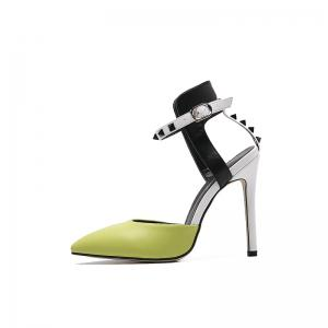 Rubber Sole Lady Sexy Rivet High Heels -