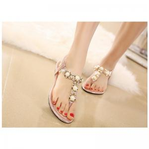 Ladies Rubber Sole Water Drill String Large Size Sandal Sandals -
