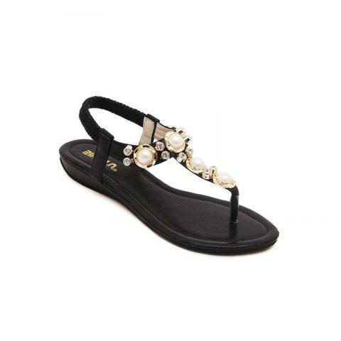 Outfits Ladies Rubber Sole Water Drill String Large Size Sandal Sandals