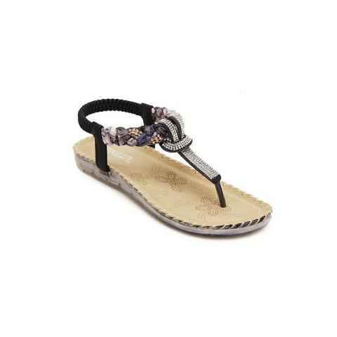 Shops Ladies Rubber Sole Water Drill Big Foreign Trade Flat Sandals