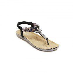 Ladies Rubber Sole Water Drill Big Foreign Trade Flat Sandals -