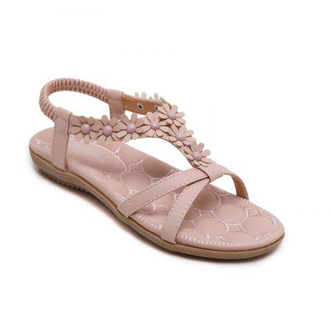 Affordable Ladies Rubber Sole Applique Large Size Beach Sandals