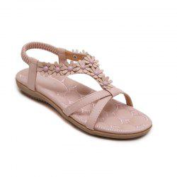 Ladies Rubber Sole Applique Large Size Beach Sandals -