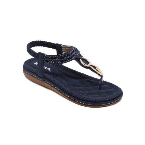 Trendy Ms Rubber Sole Diamond Flat Thong Sandals