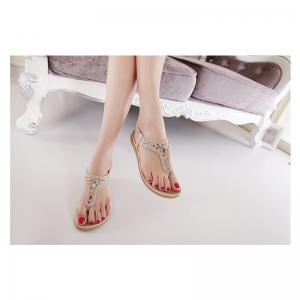 Ladies Rubber Sole Water Drill Clamp Foot Flip-Flops -