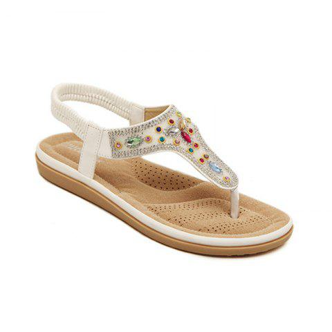 Online Ladies Rubber Sole Water Drill Clamp Foot Flip-Flops