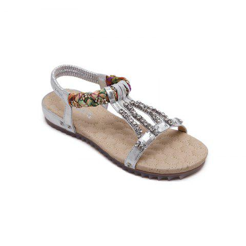 Sale Women'S Water Drill String Beads and Foot Sandals
