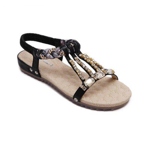 Latest Women'S Water Drill String Beads and Foot Sandals