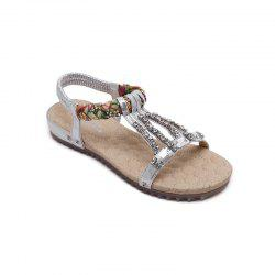 Women'S Water Drill String Beads and Foot Sandals -
