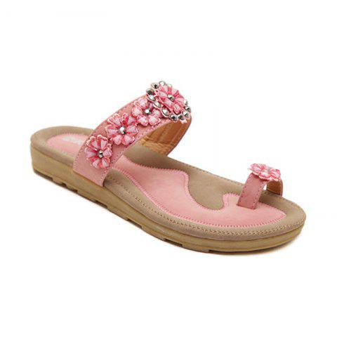 Shops Ladies Rubber Sole Water Drill String Beads and Foot Sandals