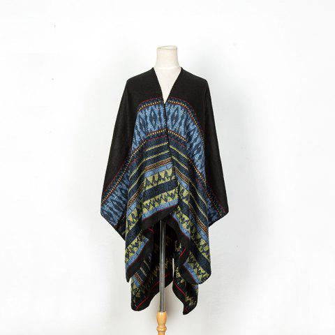 Shop Literature and art back to ancient Chinese cashmere geometric pattern thickening warm shawl