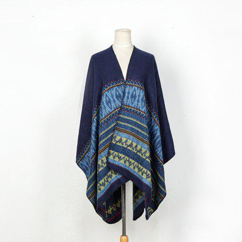 Shops Literature and art back to ancient Chinese cashmere geometric pattern thickening warm shawl