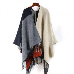 thick warm multicolor color shawl -
