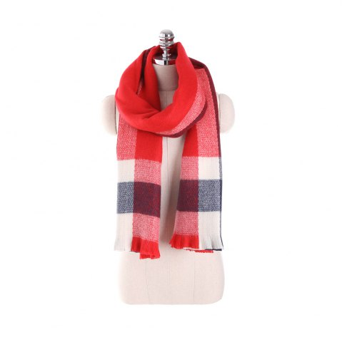 Outfit Plaid scarf like cashmere with thick warm scarf