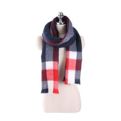 Plaid scarf like cashmere with thick warm scarf -