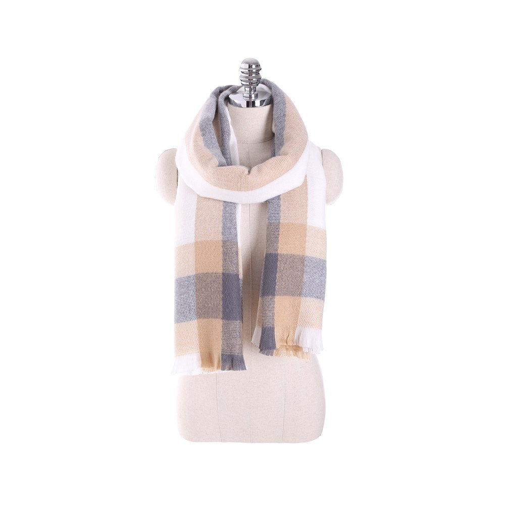 Best Plaid scarf like cashmere with thick warm scarf