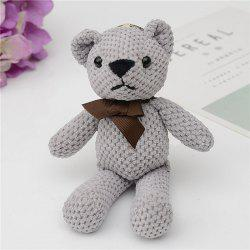 Fashionable Toy Bear Key Chain Bag Accessories -