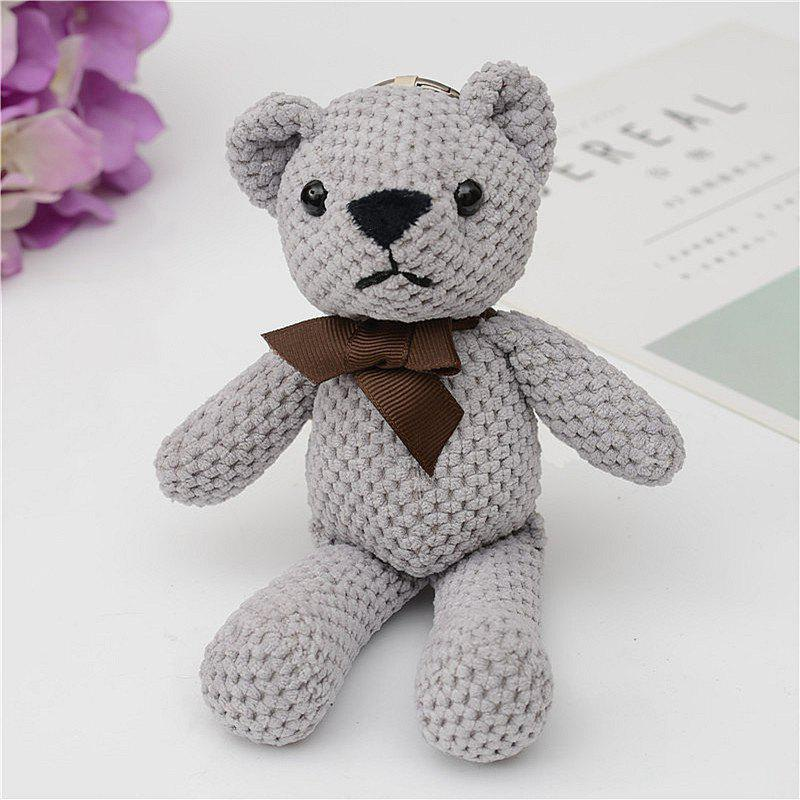 Unique Fashionable Toy Bear Key Chain Bag Accessories