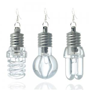Fashion Han Edition Accessories Colorful Light Bulbs Earrings -