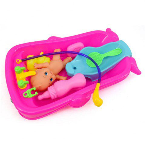 Cheap Cognitive Bathtub Floating Toy Bathroom Game Play Set Early Educational Newborn Gift Baby Bath Toys