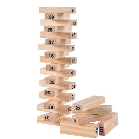 Discount Toppling Tower Wood Block Stacking
