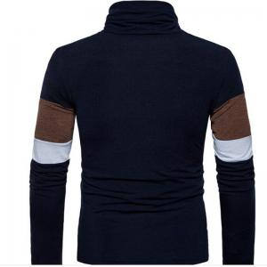 New Men'S Striped Turtleneck Collar Slim  SweaterMJ30 -