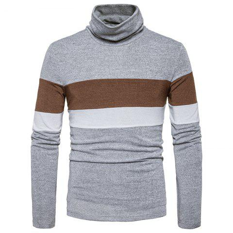 Outfits New Men'S Striped Turtleneck Collar Slim  SweaterMJ30