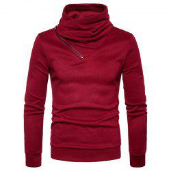 Spring New Fashion Neckline Zipper Long Sleeved Man Body Sweater MJ22 -