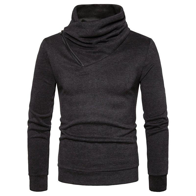 Outfit Spring New Fashion Neckline Zipper Long Sleeved Man Body Sweater MJ22