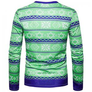 New Men'S Feature Geometric Wave Stripes 3D Print T-Shirt TV10 -