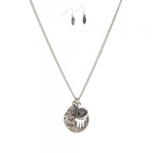 New Letter Necklace Eye Palm Long Sweater Chain Popular Personalized Earrings and Necklaces Jewelry Set -