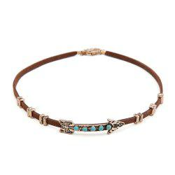 New Creative European Style Choker Necklace Personality Women Arrow Pattern leather Necklace Short necklace Jewelry -