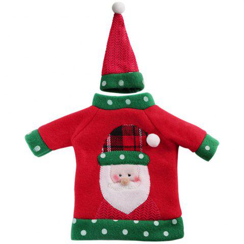 Fashion 1pcs Red Wine Bottle Cover New Year's Products Christmas Party Decoration Supplies Gifts  Decor for Home
