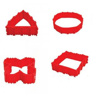 4 Pcs/set DIY Silicone Cake Mold Square Flower Heart Round Cake  Baking Moulds -