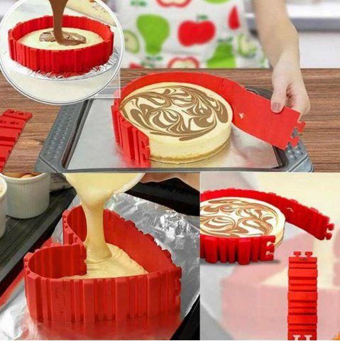 Sale 4 Pcs/set DIY Silicone Cake Mold Square Flower Heart Round Cake  Baking Moulds