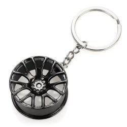 Wheel Hub Alloy Key Chain Wallet Decor Keyring Pendant Decoration -