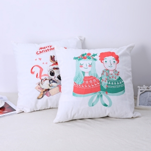 Christmas Pillows, Cute Kittens and Lovers. -