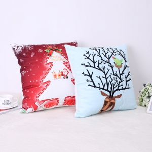 Christmas Tree Elk Pillow -