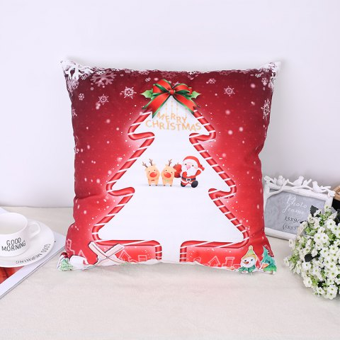 Discount Christmas Tree Elk Pillow