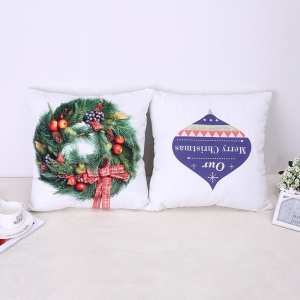 Christmas Pillow Christmas Candy Wreath -