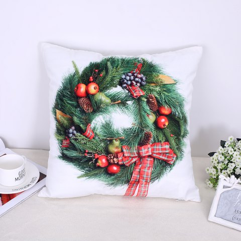 Fancy Christmas Pillow Christmas Candy Wreath