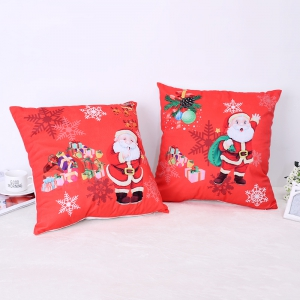 Christmas Santa Claus Stamp Pillow -