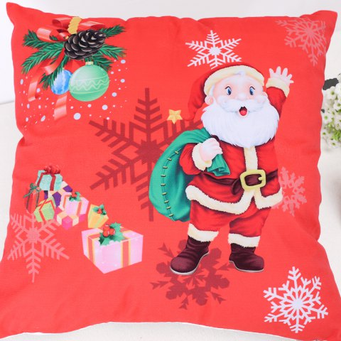 Trendy Christmas Santa Claus Stamp Pillow