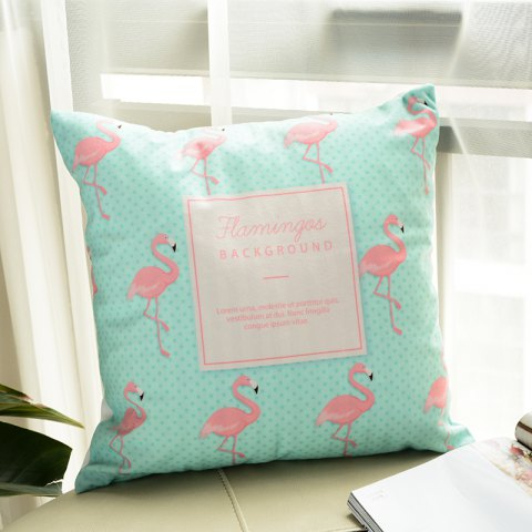Affordable Flamingo Pillow Macaron Printing Super Soft Cushion