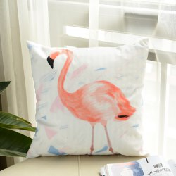 Flamingo Pillow Macaron Printing Super Soft Cushion -