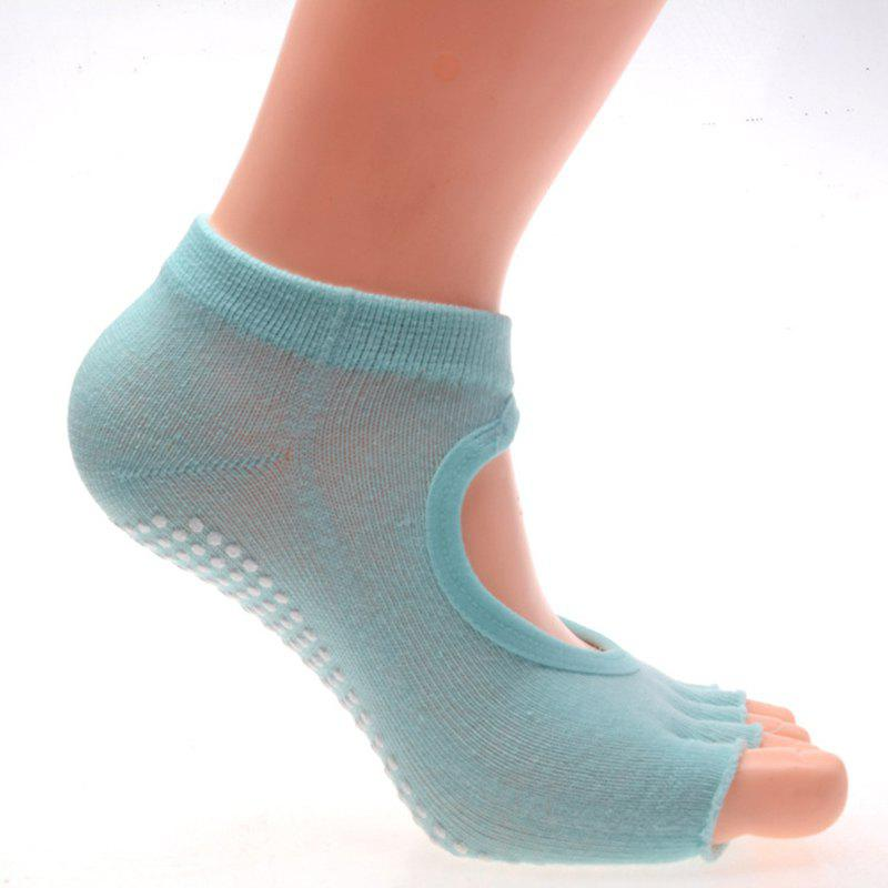 Unique Spring and summer cotton men 's movement five fingers socks four seasons plain breathable colored fingers socks