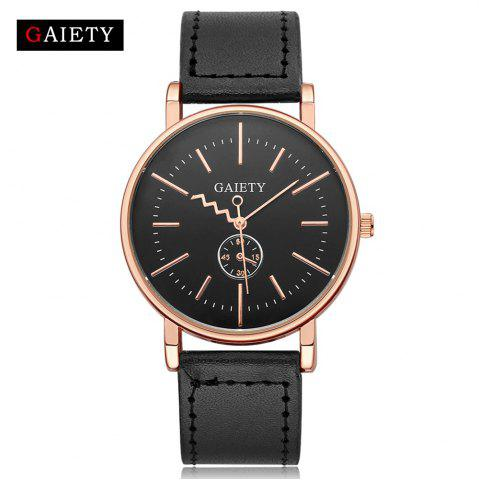 Sale GAIETY Men's Rose Gold Tone Casual Leather Band Wrist Watch G035